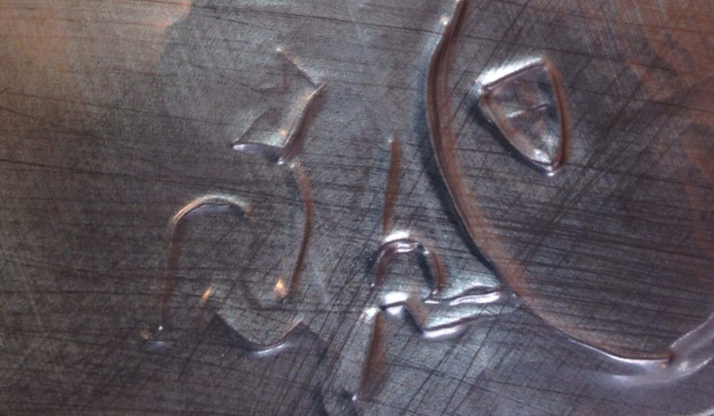 embossing in detail after 2 passes