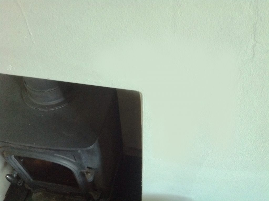 fire place with cracked plaster issue resolved