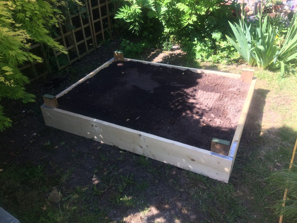 Completed raised bed